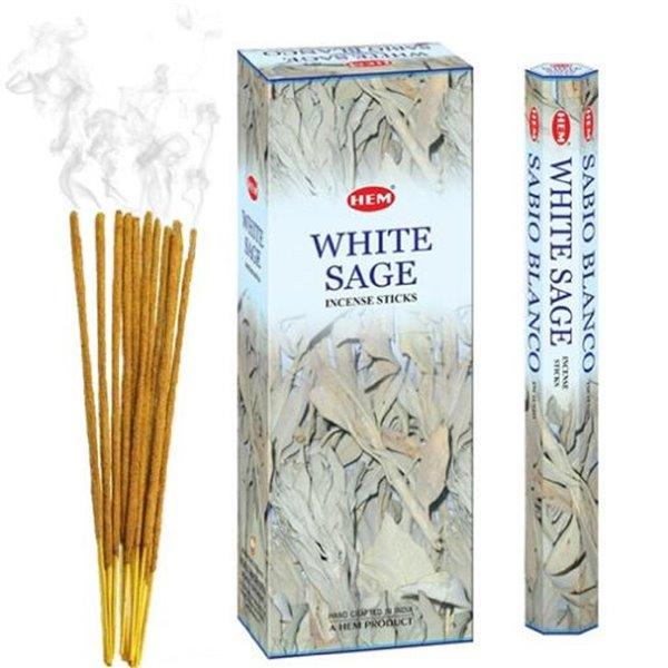 Lot de 6 encens (20 bâtons), sauge blanche par IH Casa Decor