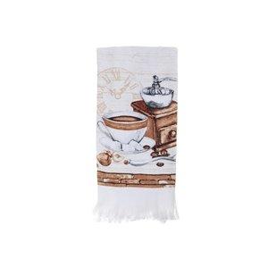 Ensemble de 6 serviettes de main avec motifs de moulin à café par IH Casa Decor