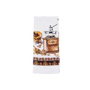 Ensemble de 4 serviettes de main avec motifs de moulin à café par IH Casa Decor