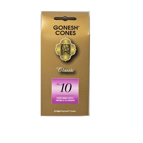 Cônes classiques n°10 Gonesh, herbes et fleurs (Lot de 8) par IH Casa Decor