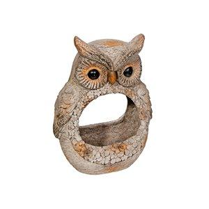 IH Casa Decor MGO Garden Owl Figurine Planter