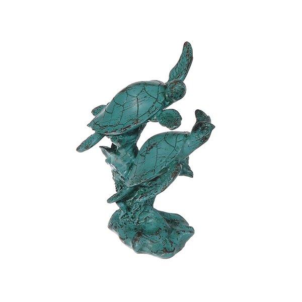 Figurine de jardin en polyrésine en forme de deux tortues de mer  de IH Casa Decor (5,9 po x 4,75 po)