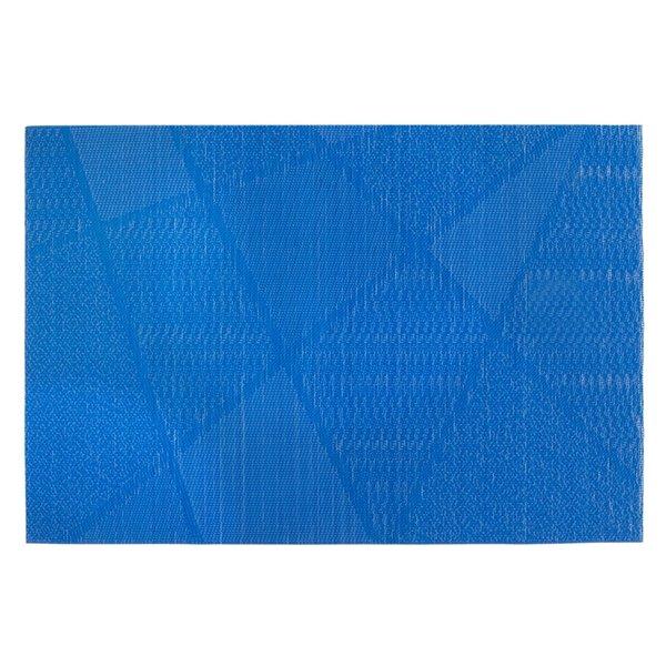 Ensemble de 12 napperons en vinyle bleu électrisant de IH Casa Decor