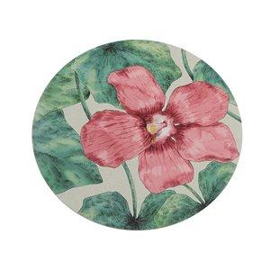 IH Casa Decor Blushing Bloom Hard Cork Backing Round Placemat - Set of 12