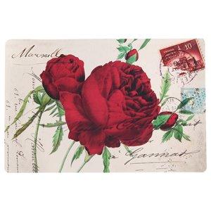 IH Casa Decor Red Rose PVC Placemat - Set of 12