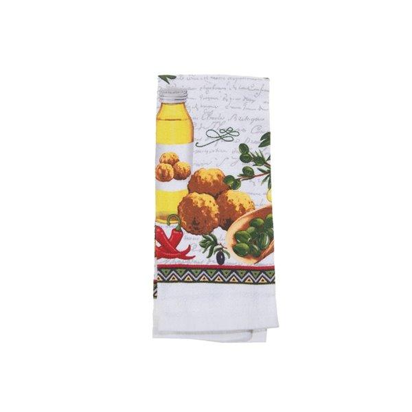 Ensemble de 4 serviettes de main avec motifs d'huile d'olive par IH Casa Decor