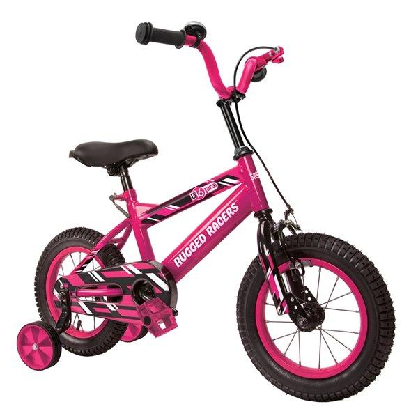 Vélo 16 po rose pour enfants par Rugged Racers