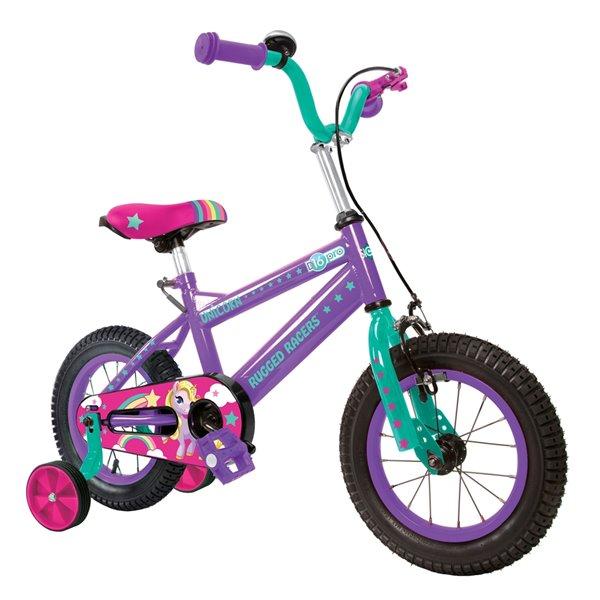 Vélo 16 po pour enfants avec dessins de licornes par Rugged Racers
