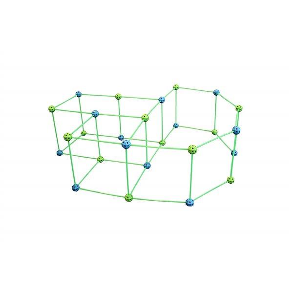Ensemble de construction de fort Funphix phosphorescent bleu et vert, 77 mcx