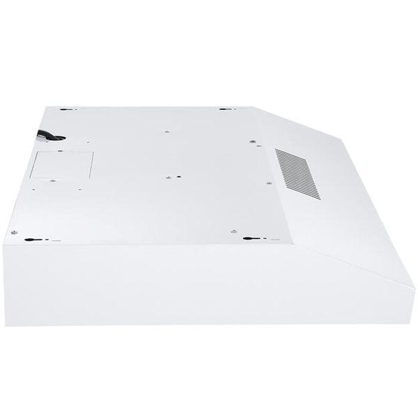 Hotte de cuisinière sous-armoire convertible Ancona blanche de 30 po