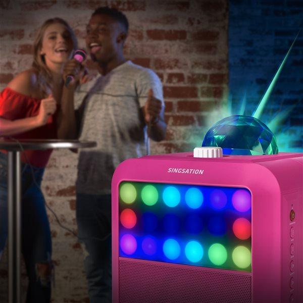Système de karaoké Star Burst rose tout-en-un par Singstation