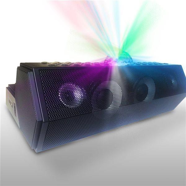 Système de karaoké Bluetooth Main Stage noir tout-en-un par Singstation