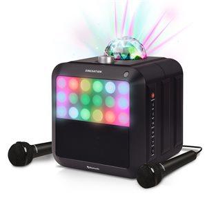 Système de karaoké Star Burst noir tout-en-un par Singstation