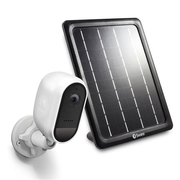 Caméra de sécurité extérieure sans fil avec panneau de charge solaire par Swann