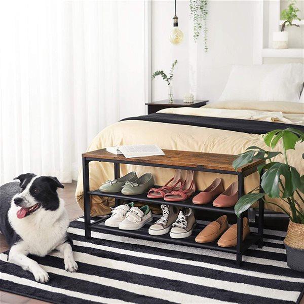Support pour souliers en métal noir de Vasagle, 8 paires