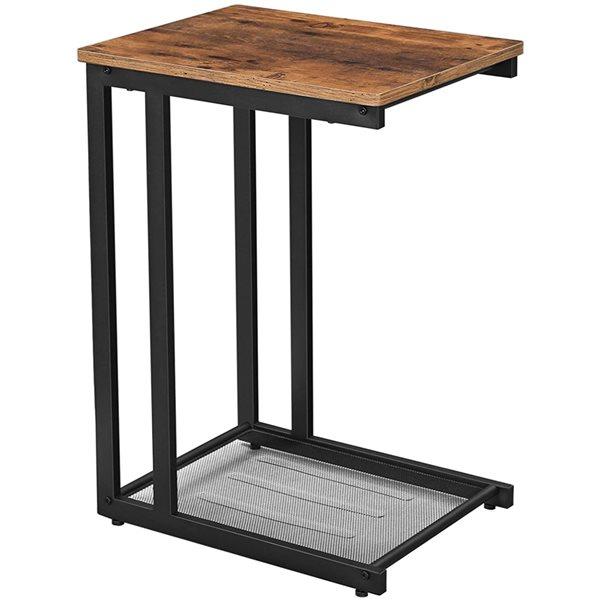 Table d'appui portative en bois brun de Vasagle