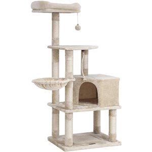 Songmics 54.3-in Brown/tan Carpet Cat Tree