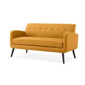 Handy Living Mcnab Midcentury Mustard Polyester/polyester Blend Sofa