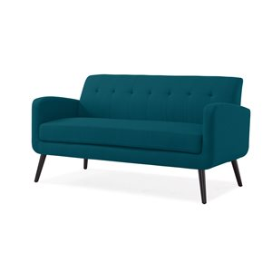 Handy Living Mcnab Midcentury Peacock Blue Polyester/polyester Blend Sofa