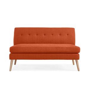 Handy Living Mcnab Midcentury Orange Polyester/polyester Blend Loveseat