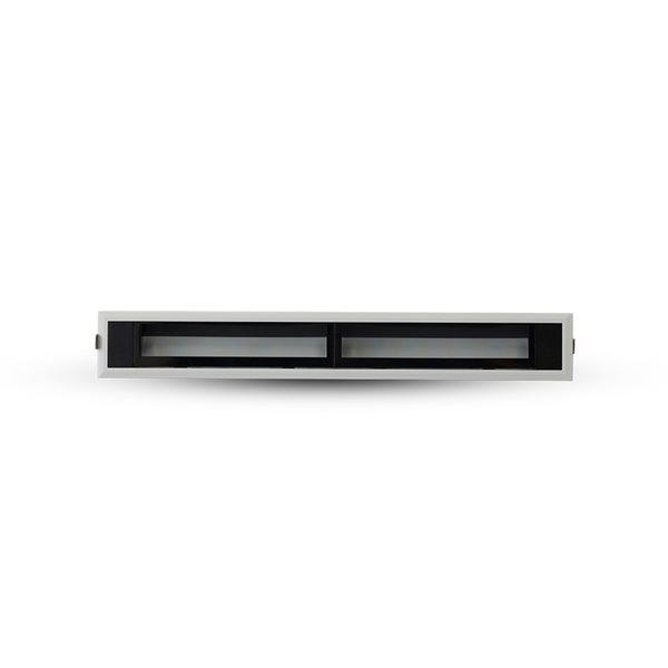 Éclairage encastré à DEL intégrée rectangulaire Slice par Vonn Lighting à intensité variable de 12,5 po équivalent de 24