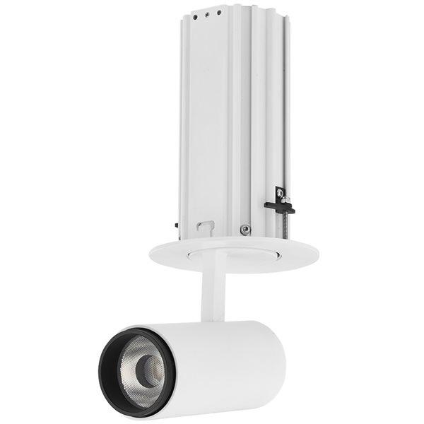 Éclairage encastré à DEL intégrée rond blanc Telescopica de Vonn Lighting à intensité variable de 3,75 po équivalent de