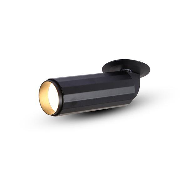 Éclairage encastré à DEL intégrée rond noir Orbit par Vonn Lighting à intensité variable équivalent de 8 watts