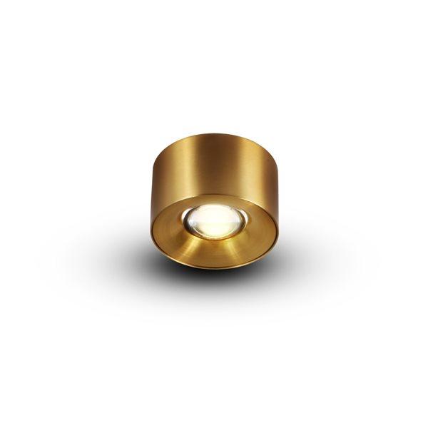 Plafonnier à DEL intégré par Vonn Lighting Node Series 3,25 po en laiton antique moderne/contemporain, certifié Energy Star