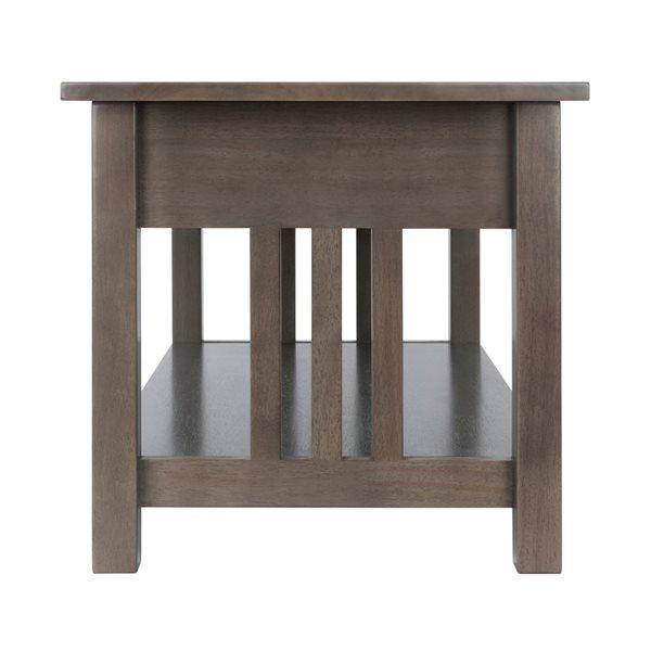 Table de salon Stafford en contreplaqué gris huître de Winsome Wood