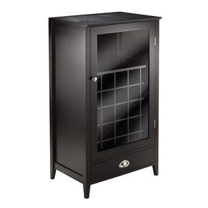 Cabinet de rangement Bordeaux de Winsome Wood, bois mix noir, 25 bouteilles