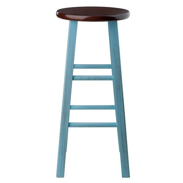 Tabouret de bar Ivy bleu pâle/noyer par Winsome Wood