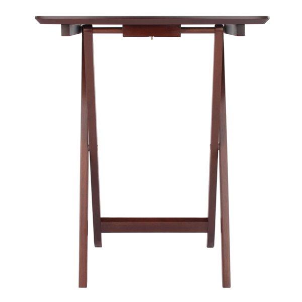 Table à collation Darlene 2 pièces noyer par Winsome Wood, 14,96 po x 21,65 po