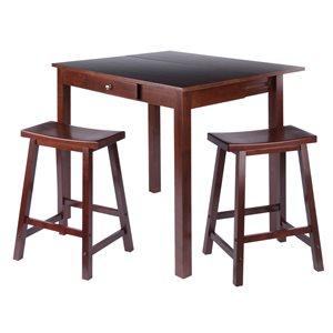 Ensemble de salle à manger en noyer Perrone par Winsome Wood avec table rectangulaire, 3 mcx