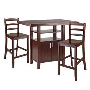 Ensemble de salle à manger Albany de Winsome Wood en noyer avec table rectangulaire, 3 mcx