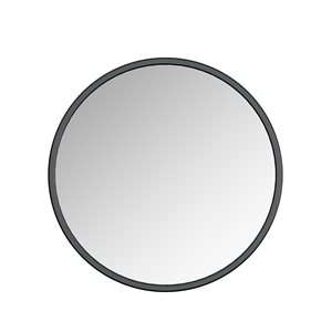 A&E Bath & Shower Modern 32-in Black Round Bathroom Mirror