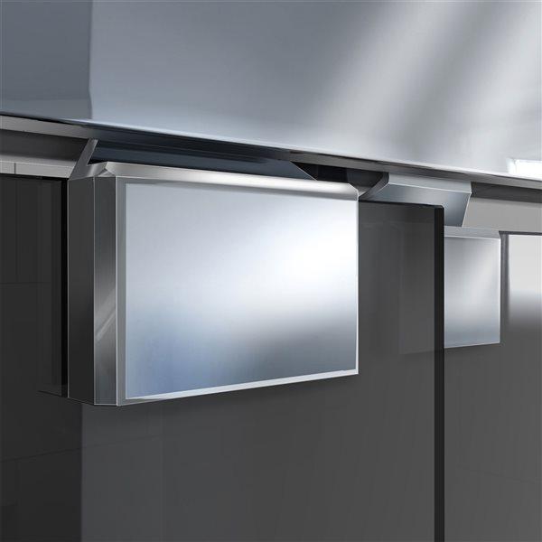 Porte de douche coulissante Encore à demi-cadre chrome de DreamLine, verre gris fumé, 76 po h. x 44 à 48 po l.