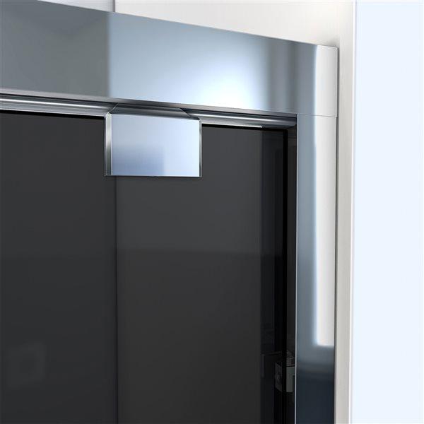 Porte de douche coulissante Encore à demi-cadre chrome de DreamLine, verre gris fumé, 76 po h x 56 à 60 po l.