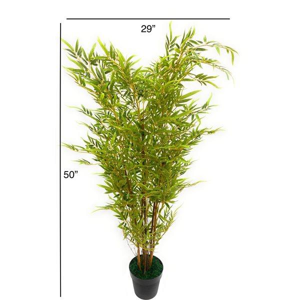 Bambou artificiel vert de 50 po par Decor+