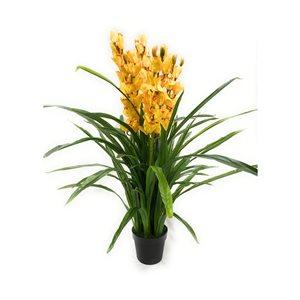 Orchidée artificielle jaune de 49 po par Decor+