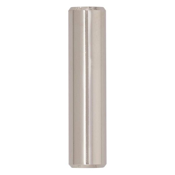 Bouton d'armoire contemporain cylindrique Bar Pulls par Amerock de 1.94 po en nickel poli, paquet de 10