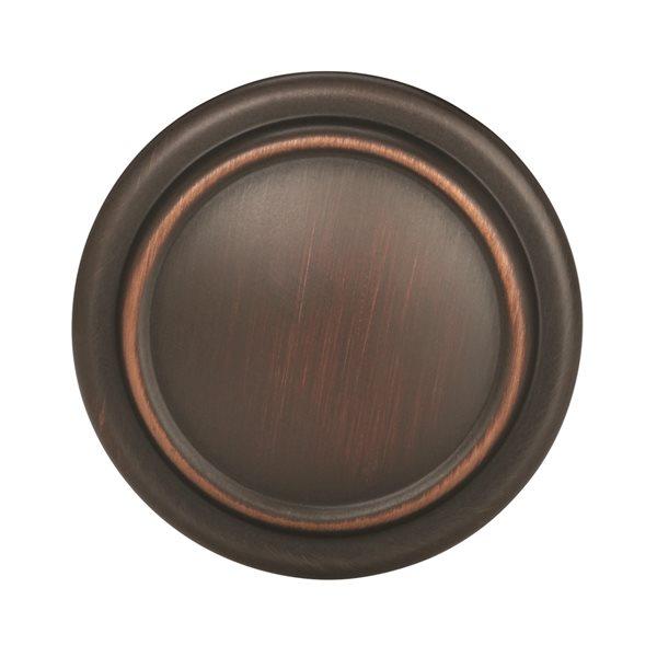 Bouton d'armoire traditionnel rond Everyday Heritage par Amerock de 1.25 po en bronze huilé, paquet de 25