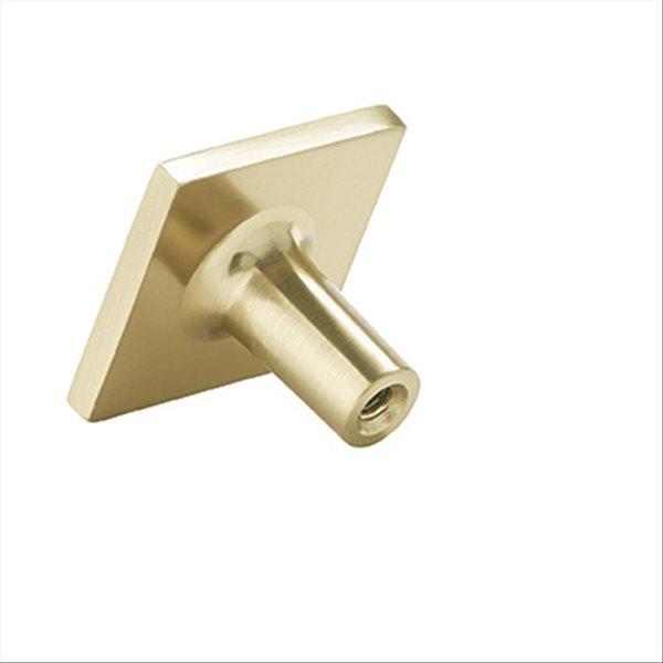 Bouton d'armoire contemporain carré Extensity par Amerock de 1.13 po en champagne doré, paquet de 10