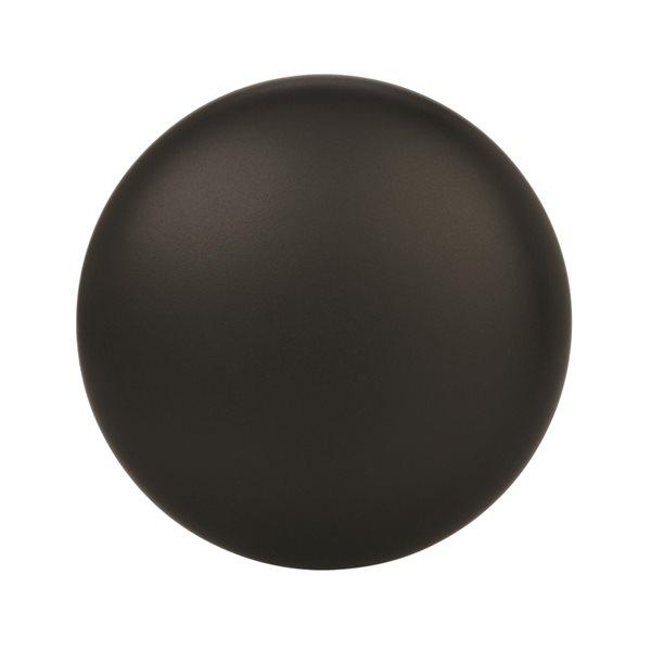 Bouton d'armoire traditionnel rond Edona par Amerock de 1.25 po en noir, paquet de 25