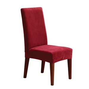 Sure Fit Stretch Pique Red Jacquard Dining Chair Slipcover