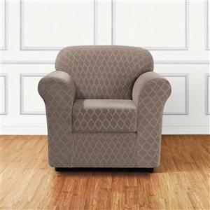 Sure Fit Grand Marrakesh Beige Jacquard Chair Slipcover
