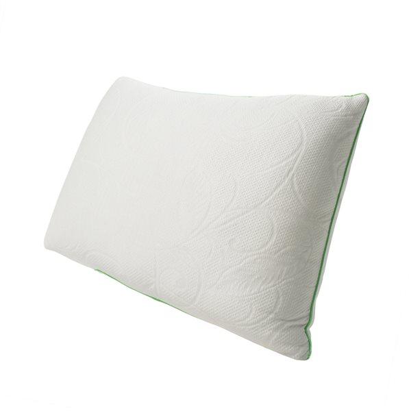 Oreiller mi-ferme en imitation de duvet Protect-A-Bed pour grand lit, emballage de 1, blanc