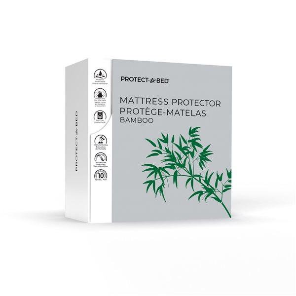 Couvre-matelas en polyester pour très grand lit Protect-A-Bed, 22po p.