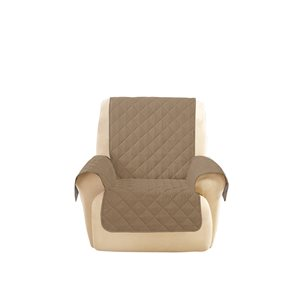 Sure Fit Deluxe Pet Jacquard Recliner Slipcover - Brown