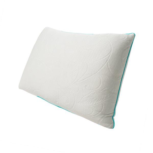 Oreiller mi-ferme en mousse à mémoire de forme Protect-A-Bed pour grand lit, emballage de 1