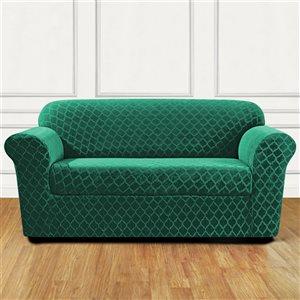 Sure Fit Grand Marrakesh Green Jacquard Loveseat Slipcover